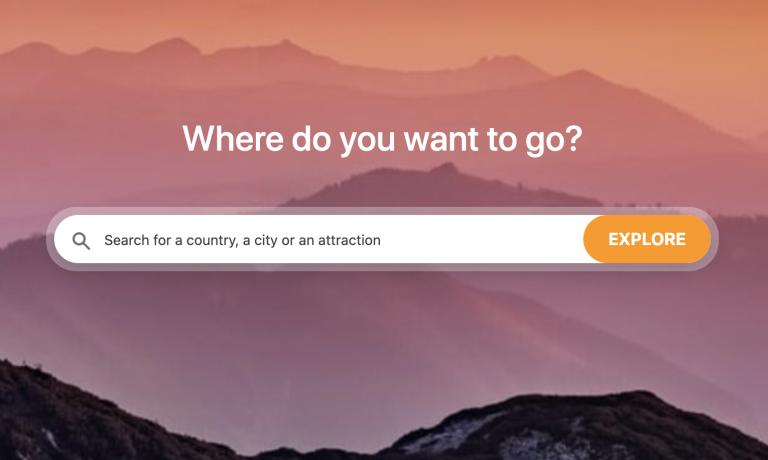 Screenshot Travelling foot website
